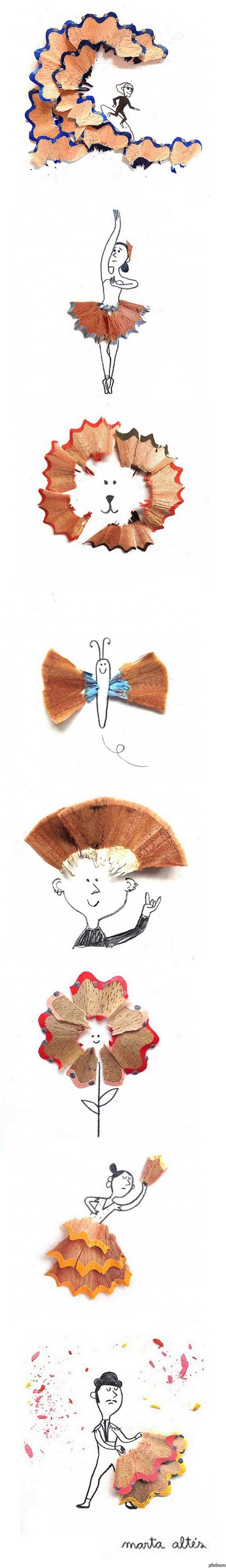 Превращения карандашной стружки от Марты Алтес. Длиннопост