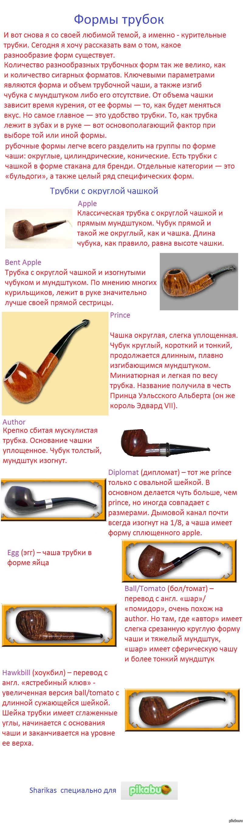 Формы курительных трубок. Часть первая Трубки с округлой чашкой