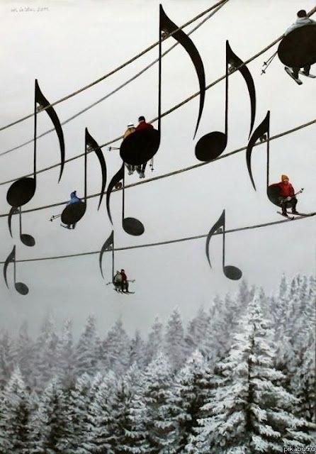 зима и музыка картинки для детей