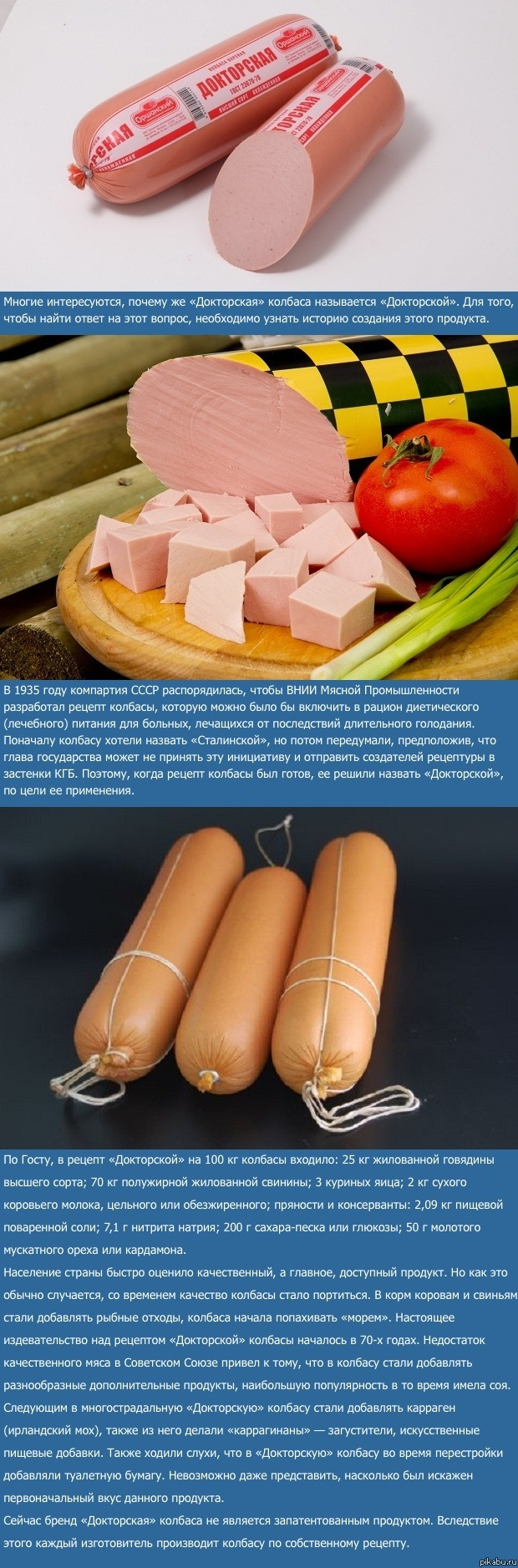 Докторская колбаса в домашних условиях рецепт по госту