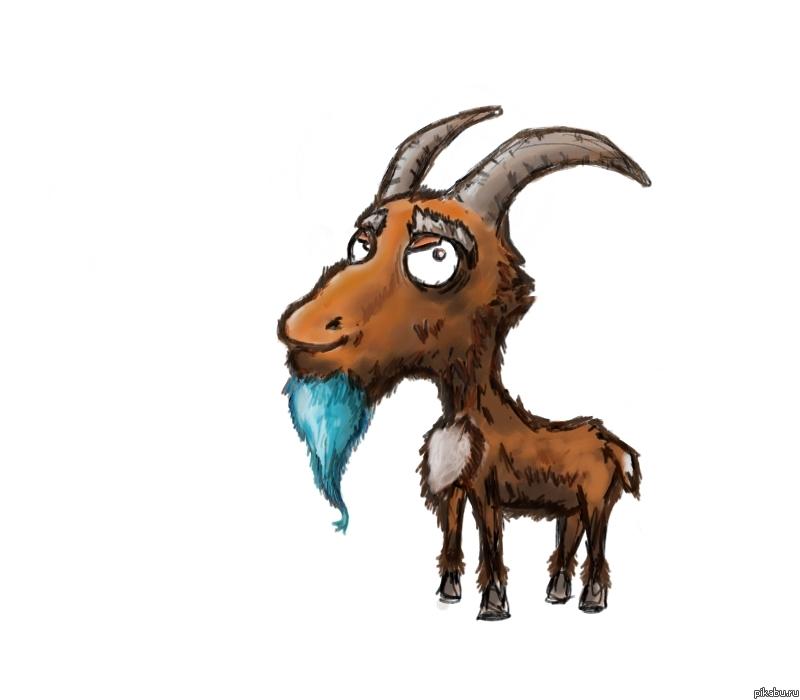 Картинки раскраски козла