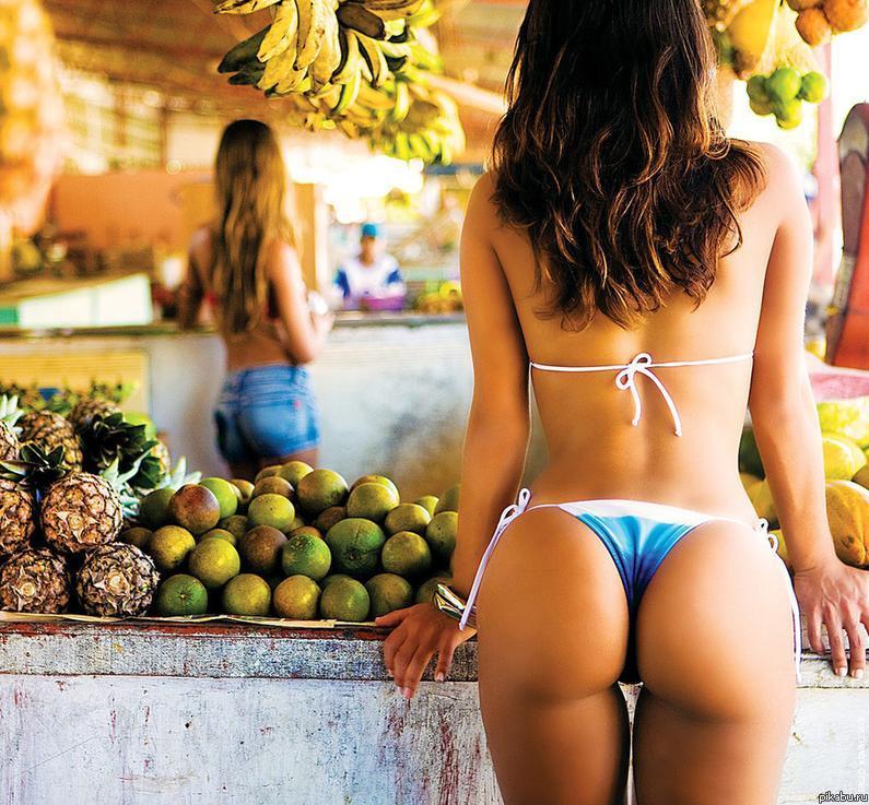 Фото попок с фруктами 6 фотография