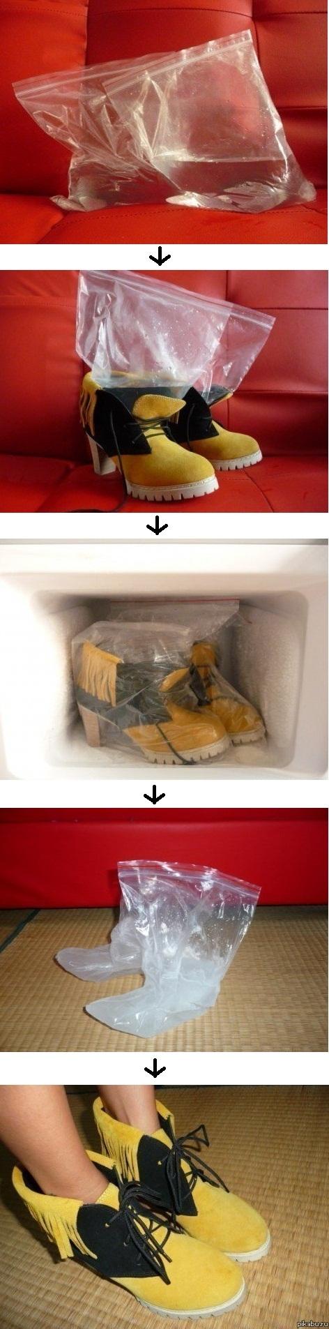 Как разносить тесную обувь в домашних условиях из натуральной 370