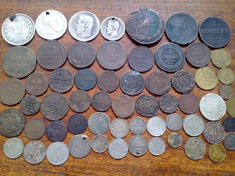 Моя скромная коллекция Собирал монетки в детстве
